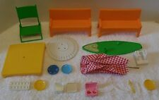 """Vintage BARBIE/MATTEL 1970's PATIO/SUMME FURNITURE Lot For 12"""" Doll CHAIRS/TABLE"""
