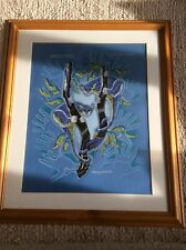 Framed Australian Aborginal Art Painting 2 Ringtail Possums by Danny Eastwood