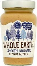 Whole Earth Organic Smooth Peanut Butter No Added Sugar 340g