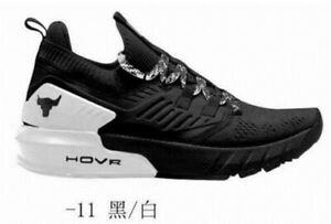 Black white Under Armour Project Rock 3 Training Sneakers Shoes Cross Training