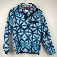 Patagonia Synchilla Snap-T Fleece Pullover Diamond Dancer Shibori Blue Tie Dye
