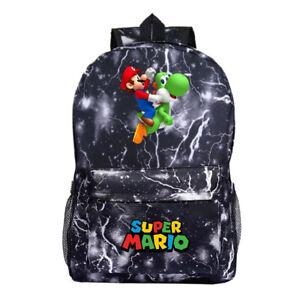 Super Mario Kids Backpack, School Bag for Boys and Teenager, Super Mario Grey