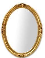 Specchio parete ovale barocco dorato classico foglia oro 63x83 Made in Italy
