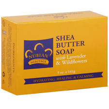 Nubian Heritage Bar Soap, Shea Butter with Lavender - Wildflowers 5 oz