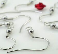 500pcs Wholesale in Bulk Silver Stainless Steel Earring Hook Never Fade