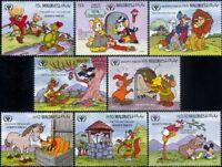 Maldives 1990 Disney/Aesop/Fables/Cartoons/Fox/Lion/Tortoise/Bear  8v set b4762z