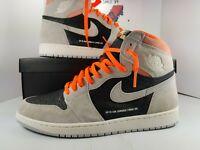 Nike Air Jordan 1 Retro High OG Neutral Grey Crimson Shoes 555088-018 Sz 13
