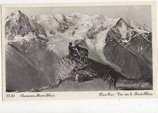 Chamonix Mont Blanc Vue Sur Le Mont Blanc Vintage Postcard Switzerland 392a