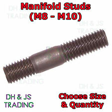Steel Manifold Studs Metric Exhaust All Sizes M8 - M10 Inlet Exhaust