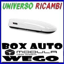 Box Baule  WEGO 500 Box tetto Bianco 200x80x40 Doppia Apertura