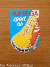 SUPERGA SHOES SNEAKERS SCARPE 1970's ANNI 70 AD VINTAGE ADESIVO STICKER DECAL
