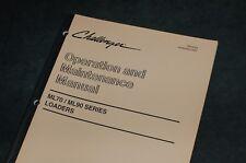 CATERPILLAR Challenger ML70 ML90 Loader Owner Operator Maintenance Manual book