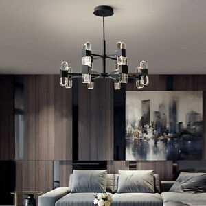 LED Ceiling Lights Kitchen Chandelier Lighting Bedroom Black Lamp 3 Color Light