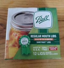 BALL Regular Mouth Canning Jar Lids New 12 ct Authentic 2020 Stock Combined Ship