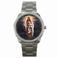 Jesus Lamb Shepherd Christian Catholic Bible Art Stainless Steel Watch