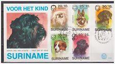 Surinam / Suriname 1976 FDC 9 Honden dogs hunden chien