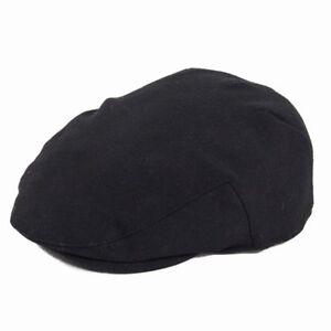 Failsworth Melton Wool Flat Cap - Black