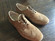 G.H. BASS BROWN SUEDE LEATHER Wingtip  Men's US 9.5