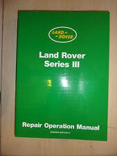 LAND ROVER SERIES 3 III FACTORY WORKSHOP OVERHAUL MANUAL Inc 5 Main Bearing 1981