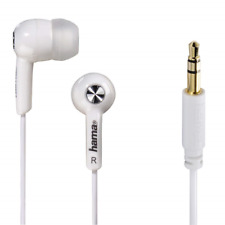 "Hama ""Basic4Music"" in-ear stereo earphones in white (UK Stock) BNIP"