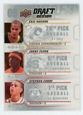 2009-10 ERIC MAYNOR JONNY FLYNN STEPHEN CURRY UPPER DECK DRAFT EDITION