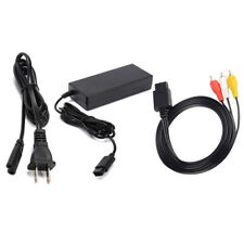 AC Adapter Power Supply & AV Cable Cord FOR (Nintendo Gamecube) New GC Charger