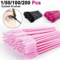 50Pcs Disposable Micro Eyelash Brushes Mascara Wands Applicator Wand Brushes
