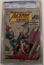 Action #252, May,1959, Origin & 1st appearance of Supergirl,CGC 2.5. Huge Key!