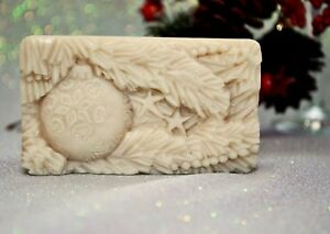 CHRISTMAS BAUBLE SILICONE MOLD for soap making plaster wax clay mould SOAP