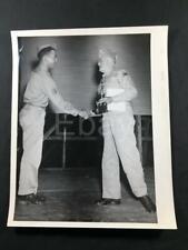 1944 WW2 USO Maj General William Grimes US Army Camp Polk LA Old Photo A25