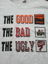 Vtg college Texas Longhorns rivalry t shirt single stitch A&M OU 90s Good Bad Ug