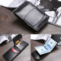 Men's Leather Bifold Wallet Coin Purse ID Credit Card Holder Short Money Clip BX