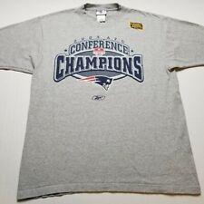 Reebok NFL New England Patriots 2003 T-Shirt Mens M/L Conference Champions S89