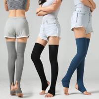 Women Winter Knit Over Knee Thigh High Yoga Leggings Warmer Long Stockings Socks
