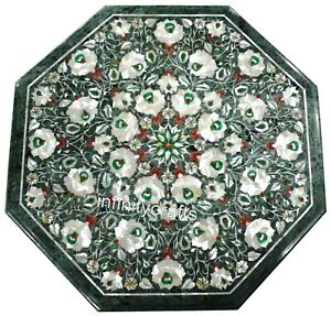 21 Inches Marble Coffee Table Top Peitra Dura Art Center table for Home Decor