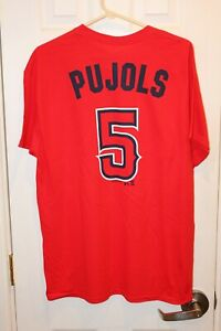 red Los Angeles Angels of Anaheim Albert Pujols (5) jersey t-shirt (NWT) - L