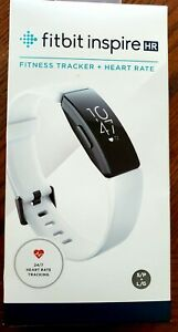 Fitbit Inspire HR Heart Rate & Fitness Tracker, One Size - WHITE - New In Box