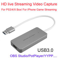 HDMI to USB 3.0 Game Video Streaming Capture Recorder Box For iPhone Mac Windows
