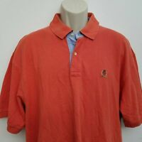 Tommy Hilfiger Mens Polo Shirt XL Orange Short Sleeve 100% Cotton
