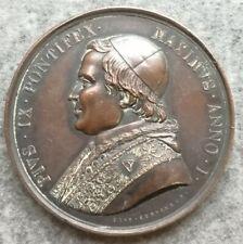 Medaglia Vaticano Pio IX 1846 Pieta Giustizia 44mm 47,40gr