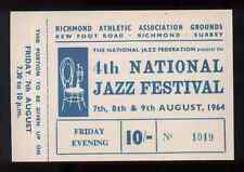 ROLLING STONES REPRO 1964 RICHMOND JAZZ FESTIVAL 7-9 AUG CONCERT TICKET . NOT CD