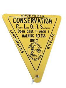 "Vintage North Dakota  Wildlife ""Game And Fish  Metal Sign - Used"