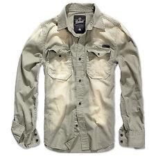 Brandit Uomo Hardee Camicia di Jeans cotone Manica lunga Vintage sicurezza S