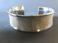 Vintage Mexican 925 Sterling Silver Wide Cuff Bracelet