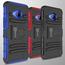 Protective Tough Case & Belt Clip Holster Hard Cover for HTC U11 Life