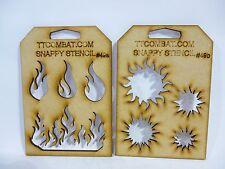 Juegos De Guerra Imperial Marines Espaciales orcos Eldar Flame Sol Snappy plantillas # 49a/b