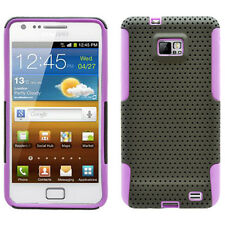 SAMSUNG i9100 ATTAIN GALAXY S2 SPORTY HYBRID 2 TONE CASE BLACK/PURPLE