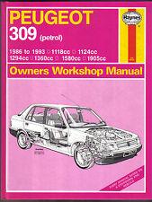 Peugeot 309 Petrol 1986-1993 Haynes Owners Workshop Manual