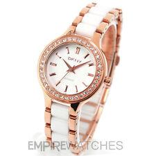 **NEW** DKNY LADIES WHITE CERAMIC ROSE GOLD WATCH NY8141 - RRP £185.00