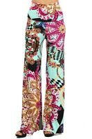 Womens New Hot Fashion Trend Popular Wide Leg PALAZZO Pants PAISLEY MINT  S~M~L